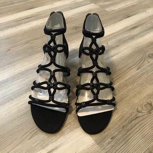 Sam Edelman Black Gladiator Sandals Size 8 NWT